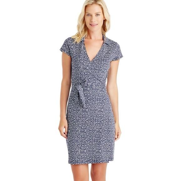 J. McLaughlin Lila Cap Sleeve Wrap Dress